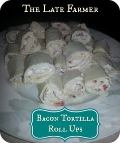Bacon Tortilla Roll Ups - if you love bacon, you will love this easy to make recipe! ~TheLateFarmer.com