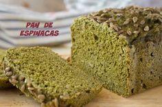 Pan de Espinacas - Pan Verde - Panificadora LIDL Lidl, Krispie Treats, Rice Krispies, Pan Light, Sin Gluten, Gluten Free Recipes, Free Food, Banana Bread, Cookies