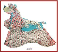 Peter Clark, collage made of postage stamps and old maps