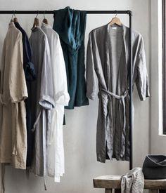 Morgenkåbe i hør   Lysegrå   Home   H&M DK