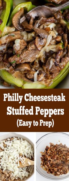 Philly Cheesesteak stuffed peppers, a twist on a classic, making it healthier. This is a fantastic dinner delicious and easy. Philly Cheesesteak stuffed peppers, a twist on a classic, making it healthier. This is a fantastic dinner delicious and easy. Classic Stuffed Peppers Recipe, Stuffed Peppers Healthy, Cheese Stuffed Peppers, Stuffed Pepper Soup, Philly Stuffed Peppers, Lower Carb Meals, Healthy Low Carb Dinners, Beef Recipes, Cooking Recipes