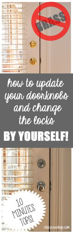 How To Replace Your Door Knobs And Change The Locks By Yourself! - http://www.stacyssavings.com/how-to-replace-your-door-knobs-and-change-the-locks-by-yourself/