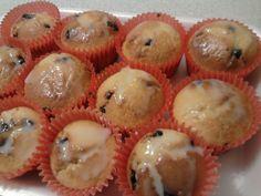 >Muffins con pulpa de frutas y chips de chocolate