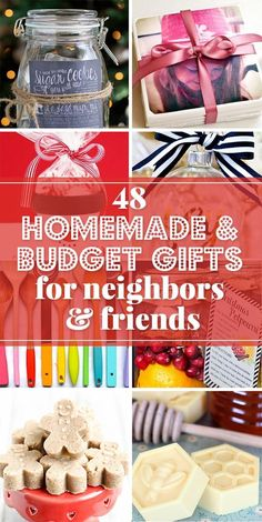 Budget gift ideas and simple homemade Christmas gifts; perfect for giving Christmas gifts to friends, neighbors, co-workers and teachers. Diy Christmas Gifts For Friends, Inexpensive Christmas Gifts, Christmas Gifts For Coworkers, Christmas On A Budget, Homemade Christmas Gifts, Christmas Diy, Simple Gifts For Friends, Christmas Treats, Homemade Gifts For Friends