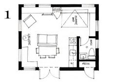 floor plan of a small laneway house in Vancouver by Smallworks
