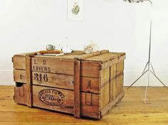 cunningham drug stores wood shipping crate | retail space