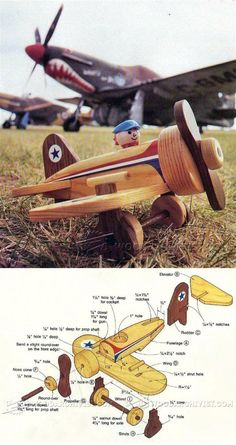 Wooden Airplane Plans - Wooden Toy Plans and Projects | WoodArchivist.com