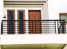 Balcony Grill Design, Balcony Railing Design, Window Grill Design, Front Wall Design, Iron Balcony, Bungalow House Design, House Elevation, Facade House, Modern Buildings