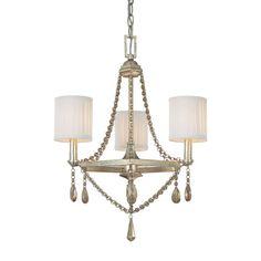 5th Avenue Winter Gold Three Light Chandelier Capital Lighting Fixture Company $329
