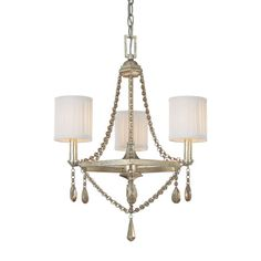 5th Avenue Winter Gold Three Light Chandelier Capital Lighting Fixture Company $329