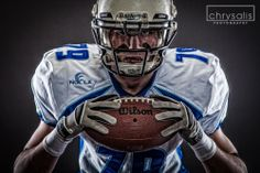 Sports photography, American Football, studio. Chrysalis Photography, Sheffield, South Yorkshire