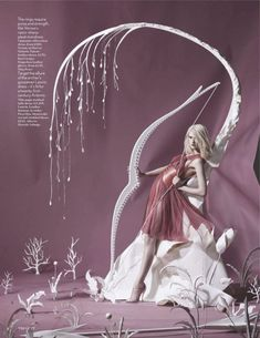 Vogue UK enlisted Tim Gutt to create a paper fantasy based in the Olympics