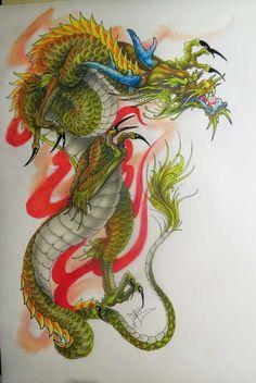 Виталий… Chinese Dragon Art, Japanese Dragon Tattoos, Japanese Tattoo Art, Small Dragon Tattoos, Dragon Tattoo Designs, Koi Fish Colors, Tattoo Oriental, Dragon Classes, Freedom Tattoos