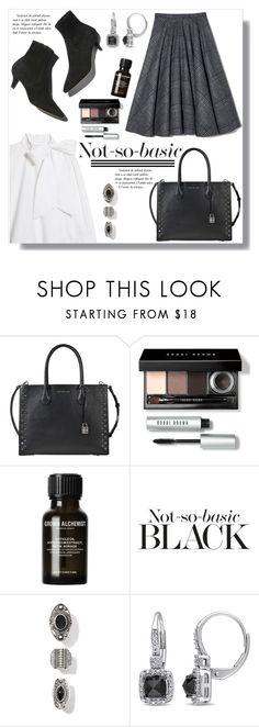 """Not-so-basic"" by queenvirgo ❤ liked on Polyvore featuring MICHAEL Michael Kors, Bobbi Brown Cosmetics, Workshop and Miadora"