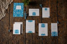 Stationery Invitations Blue Gold Luxe Victorian Wedding Ideas http://www.francescarlisle.co.uk/