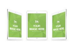 3 White iPads Mockup Template - Mediamodifier - Online mockup generator