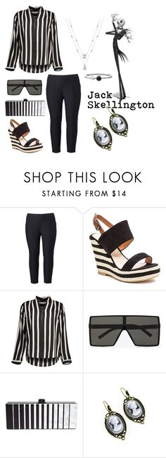 """""""Jack Skellington"""" by fabulous-monsters ❤ liked on Polyvore featuring Simply Vera, French Blu, Yves Saint Laurent, Edie Parker, Emi Jewellery, disney and Thenightmarebeforechristmas"""