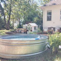 Redneck Riviera? 😆 🍹 #upstatesc #andersonsc #stocktankpool #silkiesofinstagram #backyard #redneckriviera #summersinthesouth…