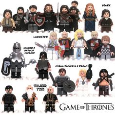 Game of Thrones Lego - I can think of a few people who would do their nut to have these!