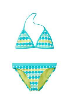Dot Print Tiki Triangle Bikini (Big Girls)