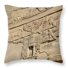 Kom Ombo Throw Pillow featuring the photograph Hieroglyphic by Silvia Bruno