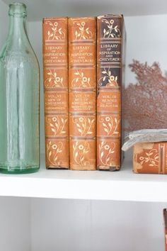 Vintage books add instant patina.