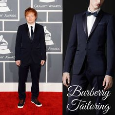 The Derek's Blog: Ed Sheeran en Burberry Tailoring - 55th Annual GRAMMY Awards