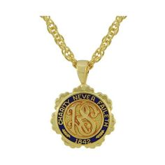 Relief Society Gold Tone Necklace CTR LDS J106