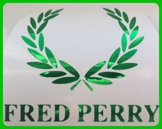 Fred Perry Logo  DECAL/STICKER GREEN  CHROME SCOOTER DECAL/STICKER  8cm/ 80mm  | eBay