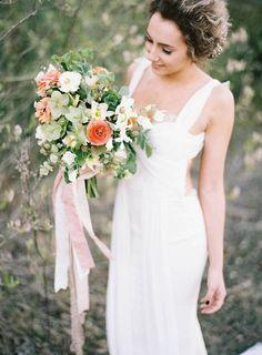 Spring Bridal #bouquet via Wedding Sparrow Blog http://weddingsparrow.co.uk/2014/07/11/spring-boho-wedding-inspiration/