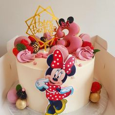 Minnie Mouse Cake, Birthday Cake, Cakes, Desserts, Food, Tailgate Desserts, Deserts, Cake Makers, Birthday Cakes