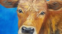 Cow Acrylic Painting Tutorial LIVE Beginner Step by Step Impressionist Lesson by Angela Anderson. Free YouTube Video. #cow #kitchen #acryliconcanvas