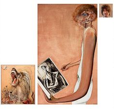 Brett Whiteley: Art, life and the other thing :: Archibald Prize 1978 :: Art Gallery NSW Most Famous Paintings, Famous Artwork, Australian Painting, Australian Artists, Arts Award, Best Portraits, Panel Art, Artist Painting, Art Images