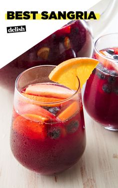 No one can turn down a good Sangria. #drinks #sangria #cocktails #wine #party