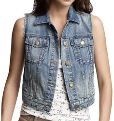 thrift a denim jacket/vest