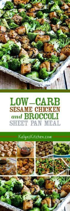 Low-Carb Sesame Chicken and Broccoli Sheet Pan Meal is a quick and easy dinner!