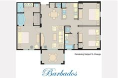 Check out our three bedroom Barbados Suite!