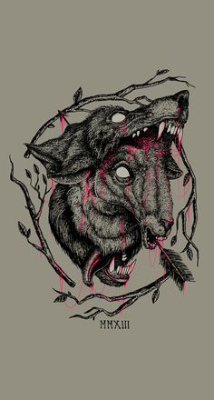 ONLY LOSERS by Mason Starkey, via Behance #illustration #morbid #evil #wolf #blood #arrow