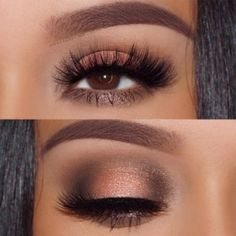 Eye Makeup - Pick the best combination of eyeshadow for brown eyes, and you will be the queen in every room you enter. Check out our photo gallery. - Ten Different Ways of Eye Makeup Gorgeous Makeup, Love Makeup, Makeup Inspo, Makeup Ideas, Cheap Makeup, Makeup Box, Amazing Makeup, Makeup Style, 50s Makeup