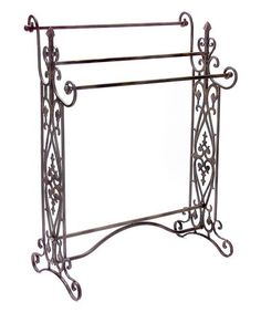 This Ornate Iron Quilt/Towel Rack is perfect! #zulilyfinds