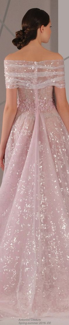 Antonios Couture Spring-summer 2016- EE  This reminds me of Glinda the Good Witch