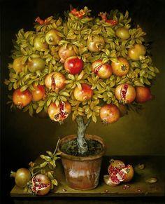 José Escofet ( Barcelona,1930-) Potted pomegranate tree
