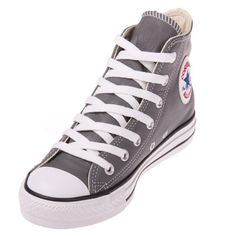 Converse Chuck Taylor 107349 Leather Charcoal Hi Top Shoe   94.99 ! Buy now  at GetShoes e38ea1ec5