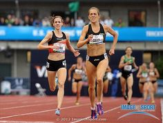 Julie Culley defeats Molly Huddle to win the womens 5,000m, 15:13.77 to 15:14.40, during the 2012 U.S. Olympic Team Trials at Hayward Field.