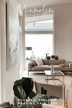 In this harmonious living space you will find Scandinavian minimalism at its best. Living Room On A Budget, Cozy Living Rooms, Living Area, Living Room Decor, Living Spaces, Diy Home Interior, Interior Decorating, Living Room Furniture Arrangement, Family Room Decorating