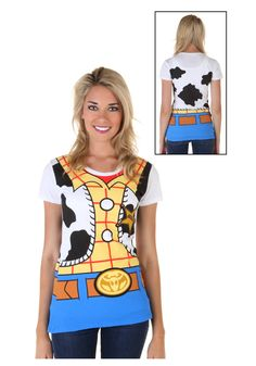 Womens Toy Story I Am Woody Costume T-Shirt Front