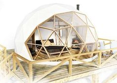 30 Geodesic Dome Ideas for Greenhouse Chicken Coops Escape Pods etc # Natural Building, Green Building, Casa Bunker, Geodesic Dome Homes, Dome Tent, Dome House, Earthship, Cabana, Architecture Design