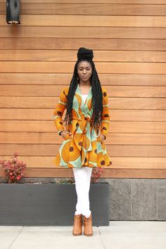I love bold and vibrant fabric. I am obsessed with wax prints. My best friend is Nigerian and every since I saw her garments I fell in love with the bold color combinations. In prior years I would mainly wear neutral colors. Now my fabric stash is full of ankara. I purchased this fabric from one of my favorite Etsy…