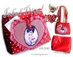 DEITY INKED DIVA BAG  #polkadots #tattoo #stripes #heart #inkedgirls Copyright:Soo@thedeitychain2014
