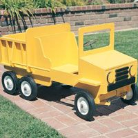 Woodworking Project Paper Plan to Build Dump Truck Pedal Car  This pedal car plan features full-size traceable patterns, comple...